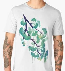 O Ginkgo (in Green) Men's Premium T-Shirt