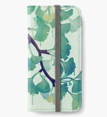O Ginkgo (in Grün) iPhone Flip-Case/Hülle/Skin