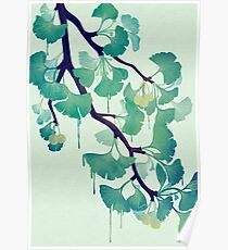 O Ginkgo (in Green) Poster