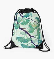 O Ginkgo (in Green) Drawstring Bag