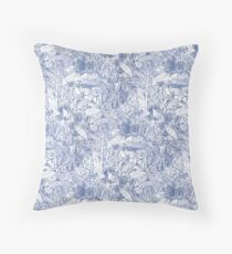 Hakea, Blue Throw Pillow