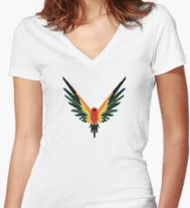 maverick logang collections Women's Fitted V-Neck T-Shirt