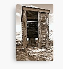The Outback Dunny Canvas Print