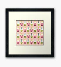 Kawaii Bubble Tea  Framed Print