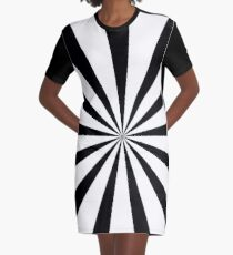 Black and white starburst  | Duvet bedspread and cushion Graphic T-Shirt Dress