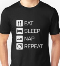 Eat Sleep Nap Repeat - white T-Shirt