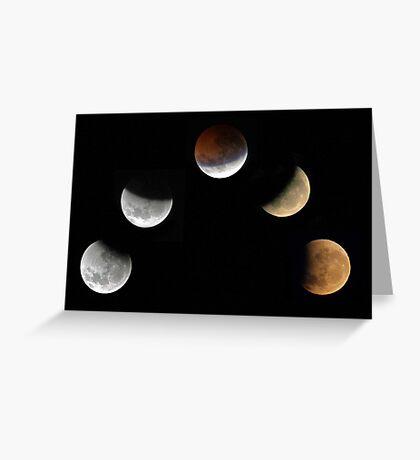 Partial Lunar Eclipse - August 17 2008  Greeting Card