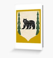 Bear Island/House Mormont Greeting Card
