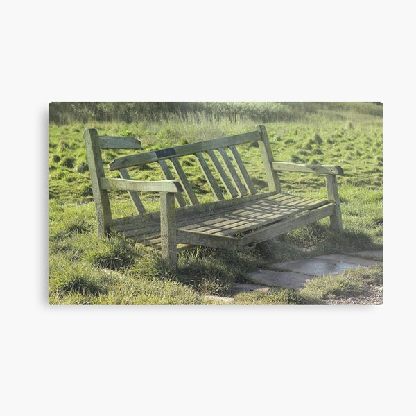 The broken bench Metal Print
