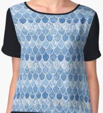Blue scales Women's Chiffon Top