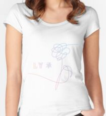 BTS LOVE YOURSELF FLOWER Women's Fitted Scoop T-Shirt