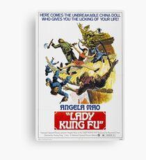 Lady Kung Fu Canvas Print