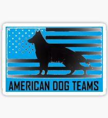 American Dog teams Sticker