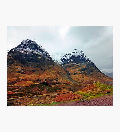 When the Sun Shines on Glencoe, Scotland Photographic Print
