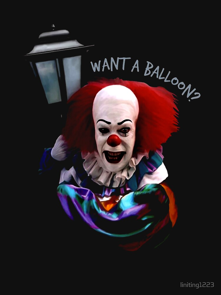 Red want a balloon clown fear horror halloween by liniting1223
