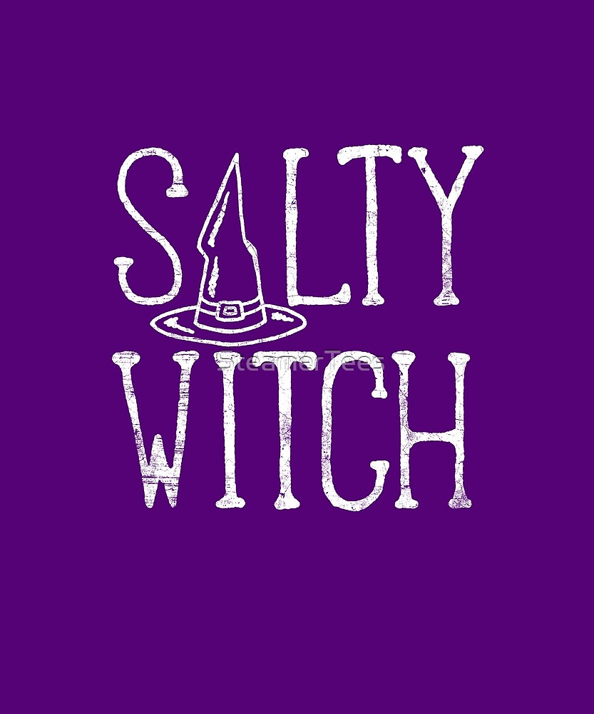 Cute Halloween Girls Salty Witch by SteamerTees