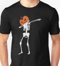 Dab Pumpkin Head Skeleton Unisex T-Shirt