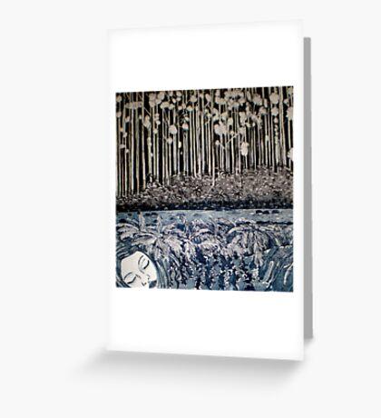 Secret Forest Dreams-Aquatint Etching Greeting Card