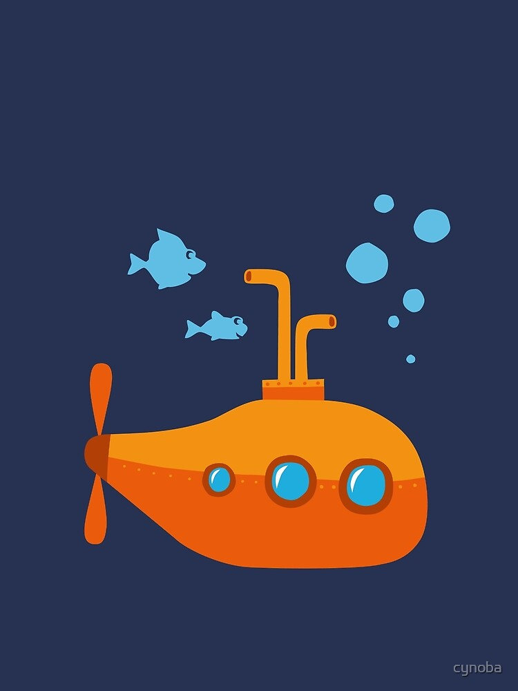 Orange submarine submarine by cynoba
