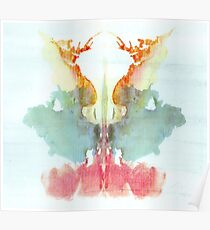 Psychology, Inkblot test, Ninth blot, Rorschach, inkblot test Poster