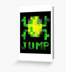 Frogger Jump Greeting Card
