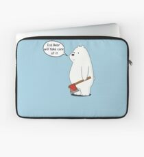 Ice Bear Will Take Care of It - We Bare Bears Cartoon Laptop Sleeve