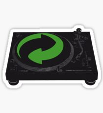 DJs love recycling Sticker