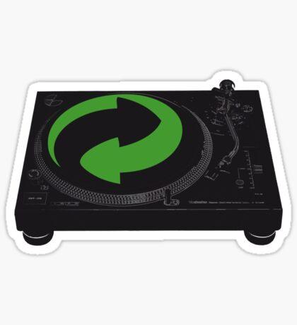 DJs love recycling Sticker
