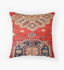 Natural Dyed Handmade Anatolian Carpet Throw Pillow