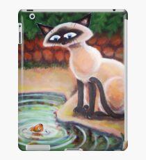Three Cats Fishing - Right Panel iPad Case/Skin