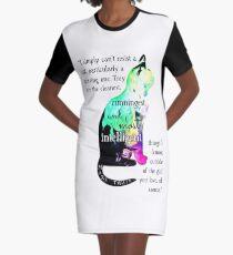 Mark Twain Cat Lover Art Graphic T-Shirt Dress