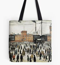 LOWRY, Artist, Matchstick men, Laurence Stephen Lowry, Going to Work  Tote Bag