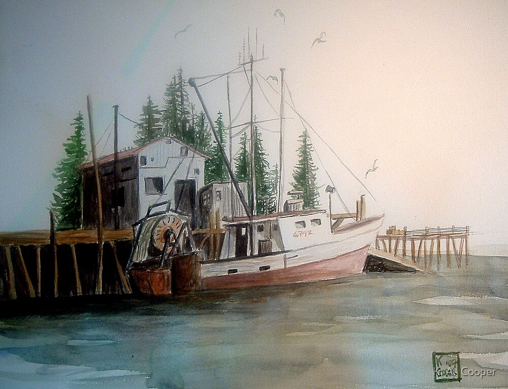 Boat for fishing by K. A.  Cooper