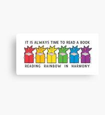 Reading Rainbow in Harmony Canvas Print
