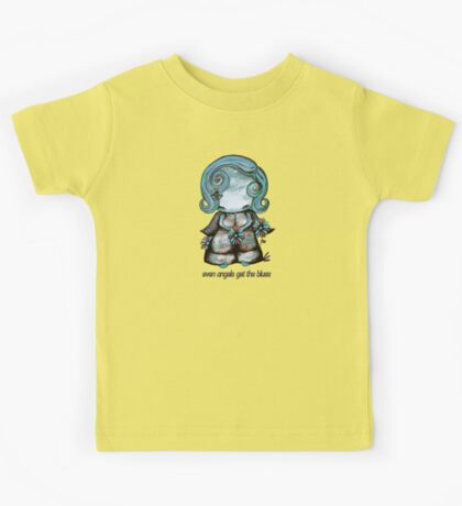 Even Angels Get the Blues in Blues (Sml Design) Kids Clothes