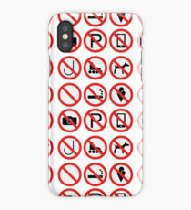Prohibition Signs - Not Allow iPhone Case/Skin
