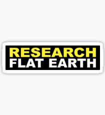RESEARCH FLAT EARTH (1st Billboard graphics) Sticker