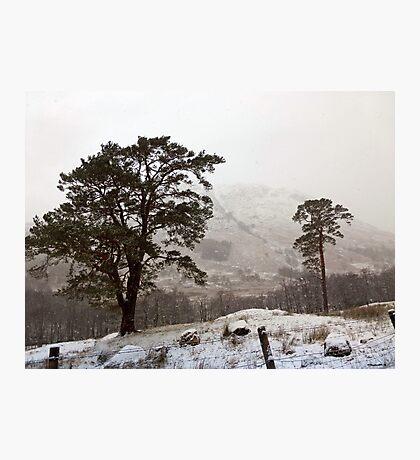 Snow Scene on Glencoe #2 Photographic Print