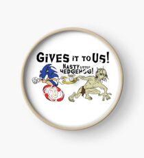 Nasty Hedgehog!!! Clock