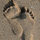 Footprints in the sand by Asrais