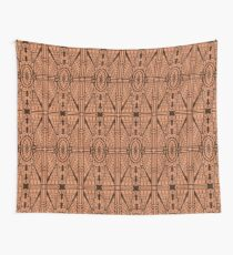 Art Deco Architectural Pattern, Copper and Brown Wall Tapestry
