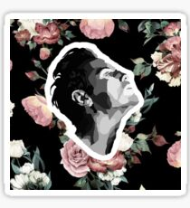 Andrew Scott - Moriarty from bbc Sherlock - sticker with flower background Sticker