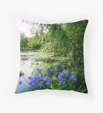 Sunlight on Pond Throw Pillow