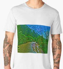 River near Schwendt in Tyrol Men's Premium T-Shirt