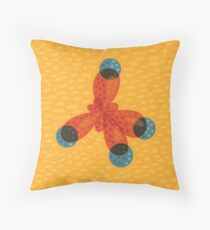 Just An Orange Methane Molecule Organic Chemistry Throw Pillow