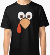 Cartoon Turkey Face Classic T-Shirt