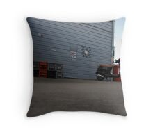 Scooter and Milk Crates Throw Pillow