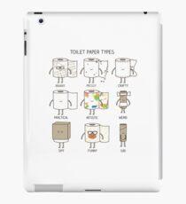 Toilet paper types iPad Case/Skin