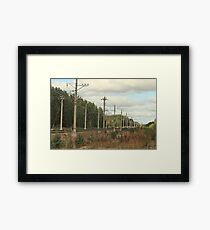 railway going into the distance Framed Print