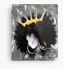 Naturally Queen III Metal Print